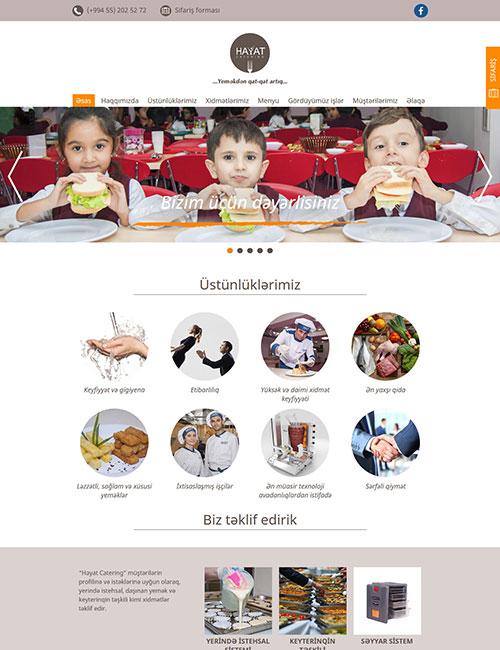 HayatCatering.az | Hayat Catering şirkətinin vebsaytı