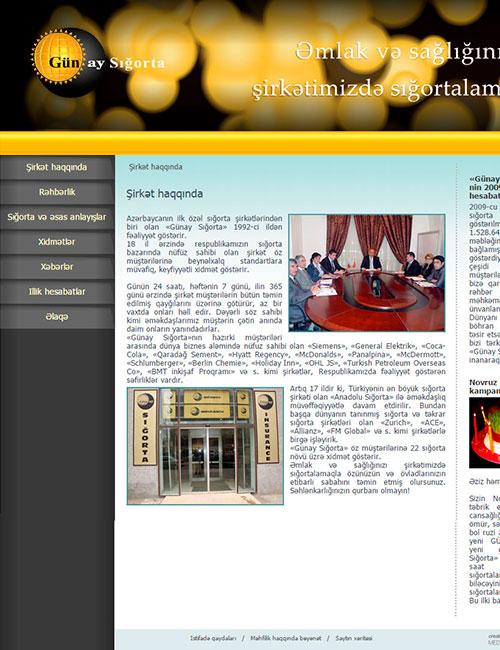 GunayBank | Вебсайт страховой компании Günay Sığorta