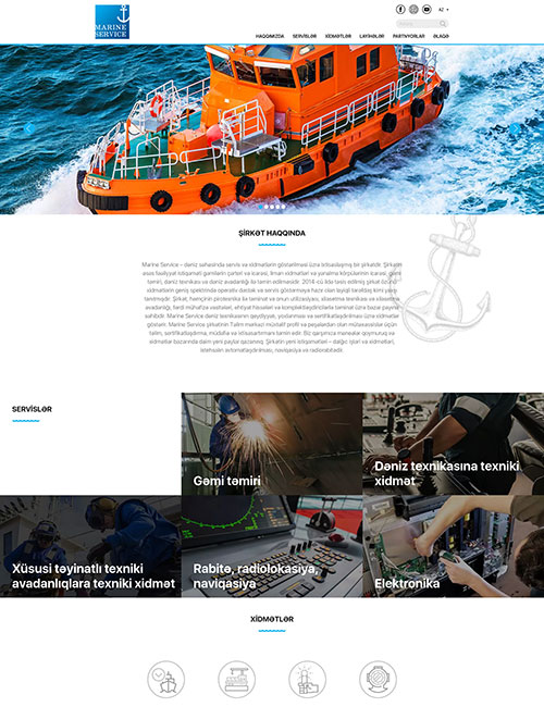 MarineService.az | Marine Service şirkətinin vebsaytı