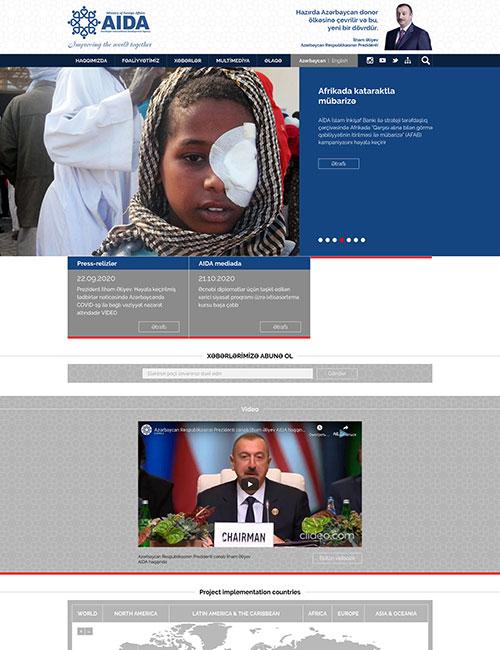 Aida.Mfa.Gov.az | Вебсайт Агентства помощи международному развитию (AIDA) в составе Министерства иностранных дел Азербайджанской Республики