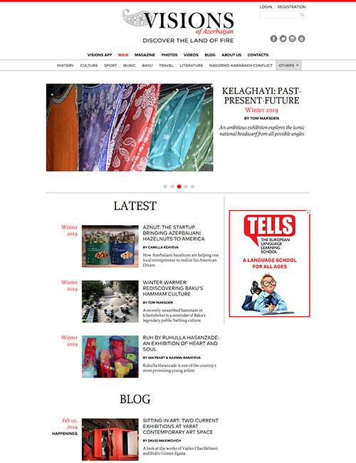 Visions.az | «Visions of Azerbaijan» ingilisdilli jurnalının vebsaytı