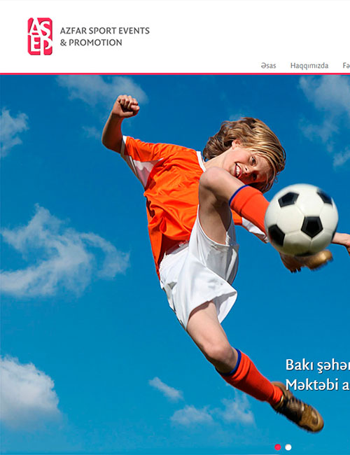 ASEP | Вебсайт Компании «AZFAR SPORT EVENTS & PROMOTION» (ASEP)