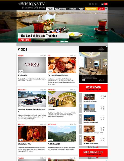 VisionsTV | «VISIONS of Azerbaijan» rəqəmsal televızıyanın vebsaytı