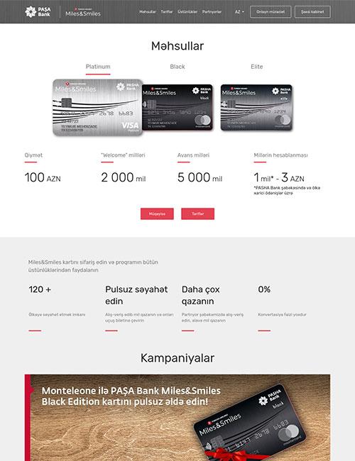 Miles.PASHABank.az | PAŞA Bank Miles&Smiles mil kartının saytı